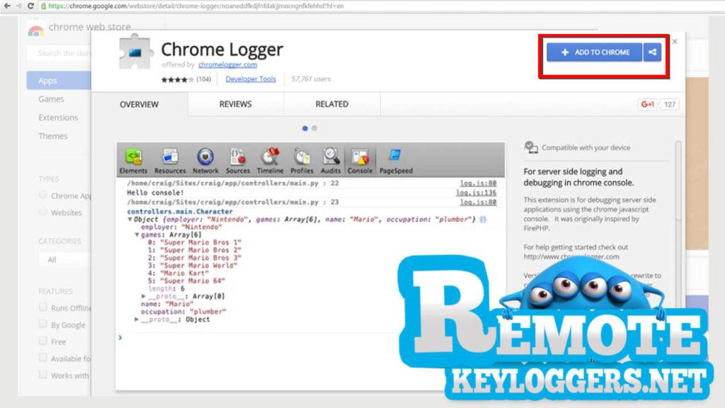web based keylogger